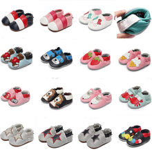 Genuine Cow Leather animal Baby Moccasins Soft Soled Toddlers Infant Baby Shoes Boys Girls Newborn First Walkers christmas gifts(China)