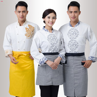 Long Sleeve Chef S Jacket Women Autumn Winter Kitchen Work Outfit Men Women White Hotel Restaurant