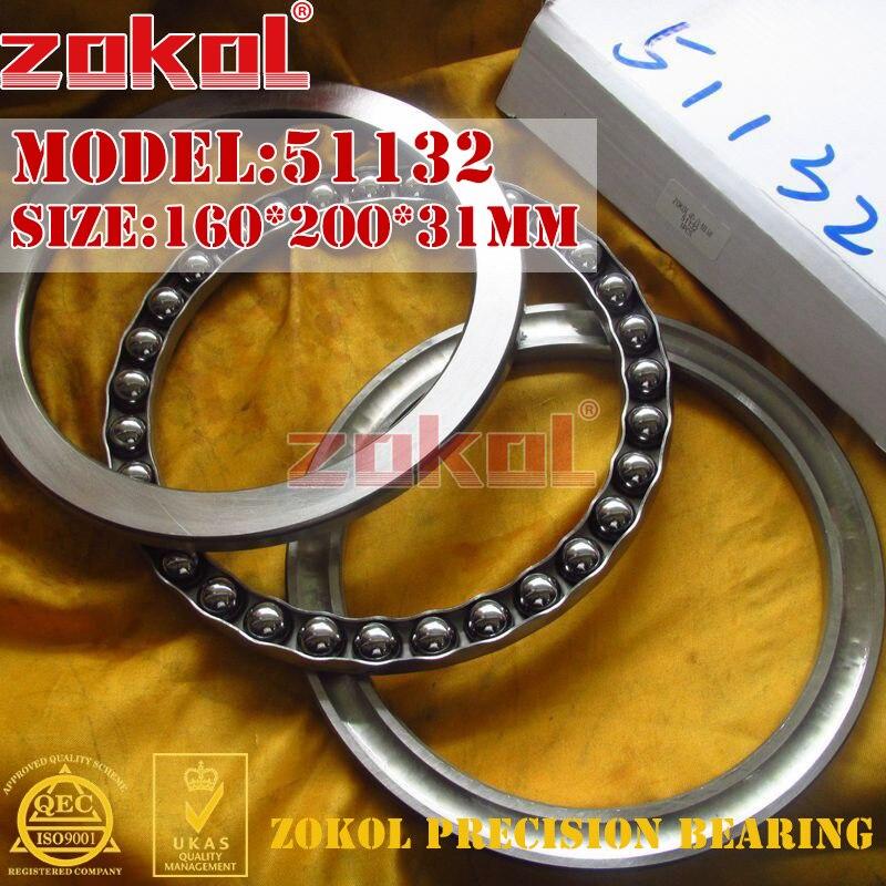 ZOKOL bearing 51132  Thrust Ball Bearing  8132 160*200*31mm zokol bearing 51134m thrust ball bearing 8134h 170 215 34mm