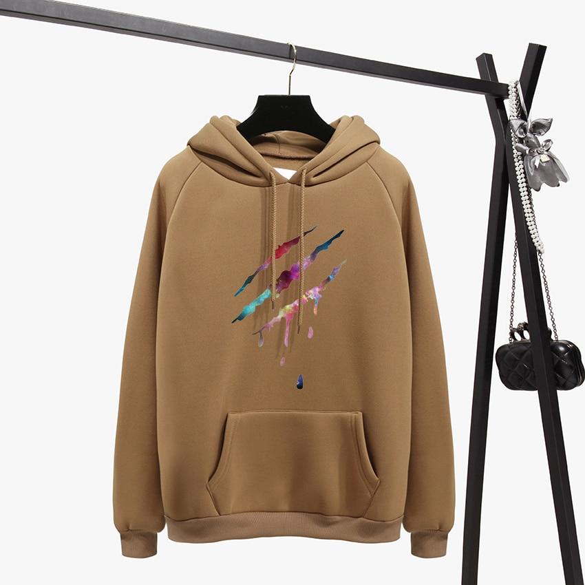 HTB1RMocB5OYBuNjSsD4q6zSkFXaW - OH YES2017 New Fashion Corduroy Long sleeves Letter Harajuku Print Girl Light pink Pullovers Tops O-neck Woman Hooded sweatshirt