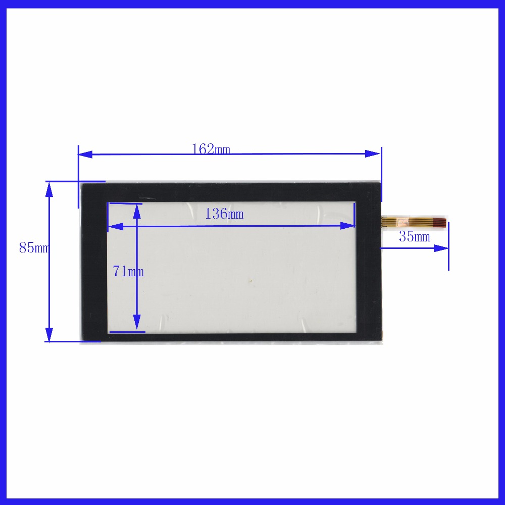 XWT502 162*85 5inch 4 Lins Touch Screen For GPS CAR 162mm*85mm Sensor Glass Industrial Application This's Compatible