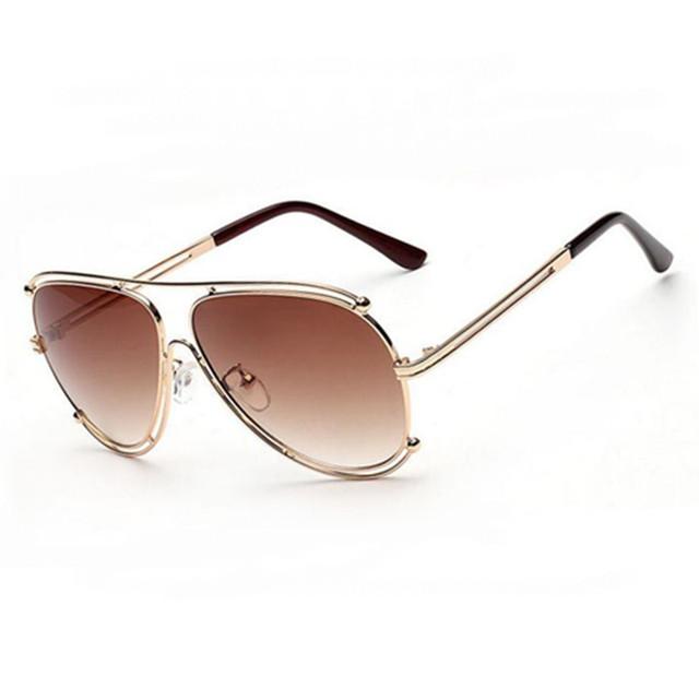 New homens de Metal óculos de sol óculos de sol de marca de luxo mulheres gradiente Shades UV400 Lens óculos de sol feminino