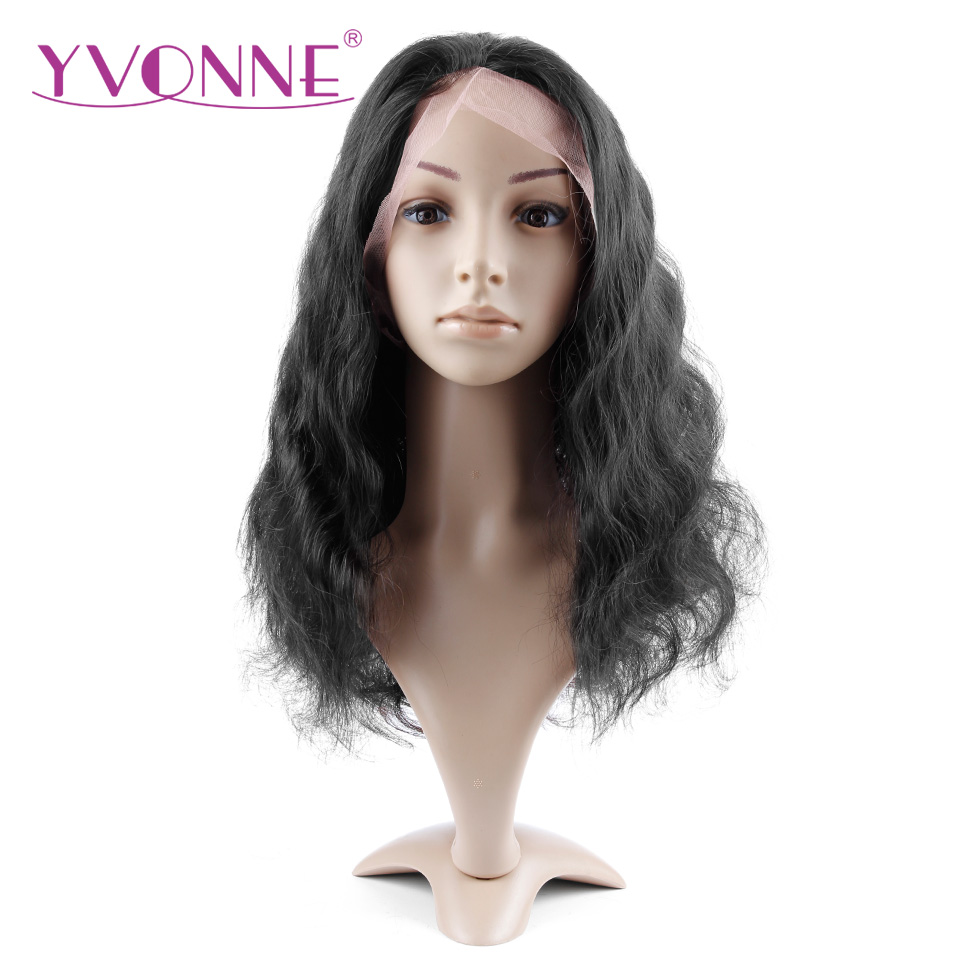 YVONNE Brazilian Virgin font b Hair b font Body Wave Full Lace Wig font b Human