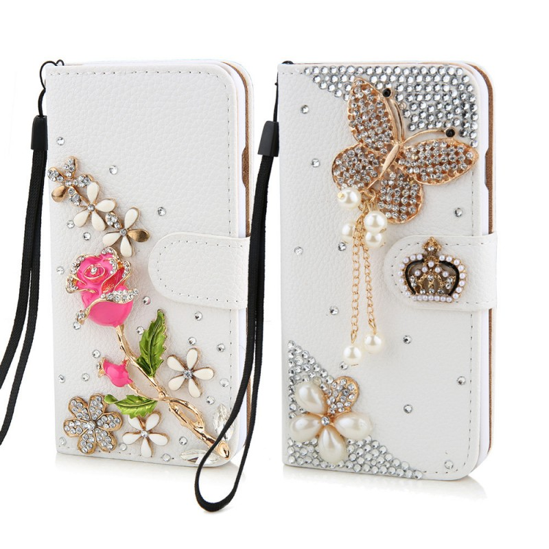 For Fundas Samsung Galaxy S6 Case S5 Note 4 Luxury Rose Women Wallet Mobile  Phone Cases for iPhone Hoesjes 5 5s 6 6s 7 Plus 150C 7aa1c8fd68