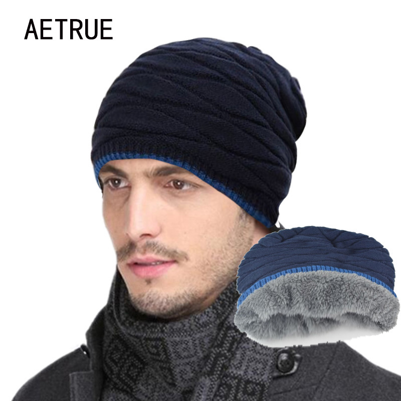 2017 Arrival Beanies Knitted Hat Men's Winter Hats For Women Men Caps Gorros Warm Moto Fur Winter Beanie Fleece Knit Bonnet  Hat brand beanies knit men s winter hat caps skullies bonnet homme winter hats for men women beanie warm knitted hat gorros mujer