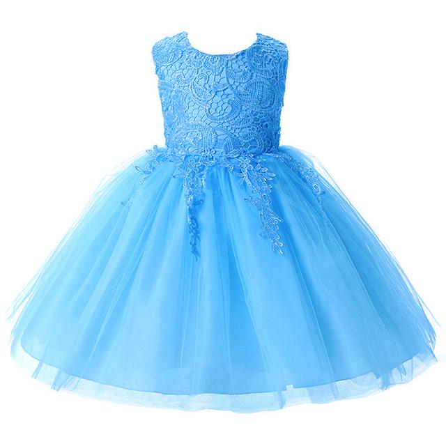 Nueva Moda Niña de las Flores Vestido de Fiesta de Cumpleaños de la boda de la princesa Del Niño Del bebé Ropa de Las Muchachas Niños de Los Niños Vestidos de Niña