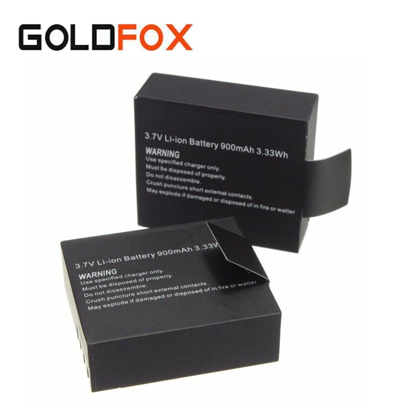 2 unids/set 3.7 V 900 mAh sj4000 sj5000 sj6000 batería para sjcam SJ 4000 5000 Cámara cámara DV Accesorios