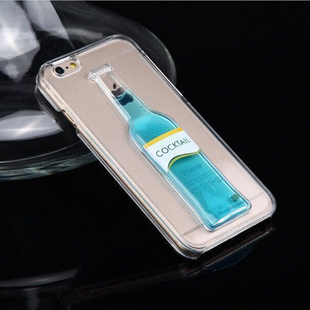 check out a9191 4b92b US $5.23 |Moving Liquid Cocktail Bottle Phone Cases for iPhone 6 Plus Case  Unique 3D Bottle Protective Cell Phone Cover for iPhone 6 plus on ...
