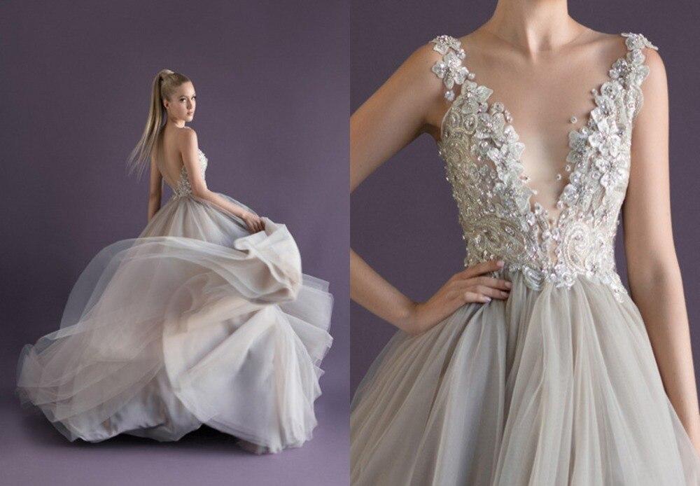Light Gray Ball Gowns