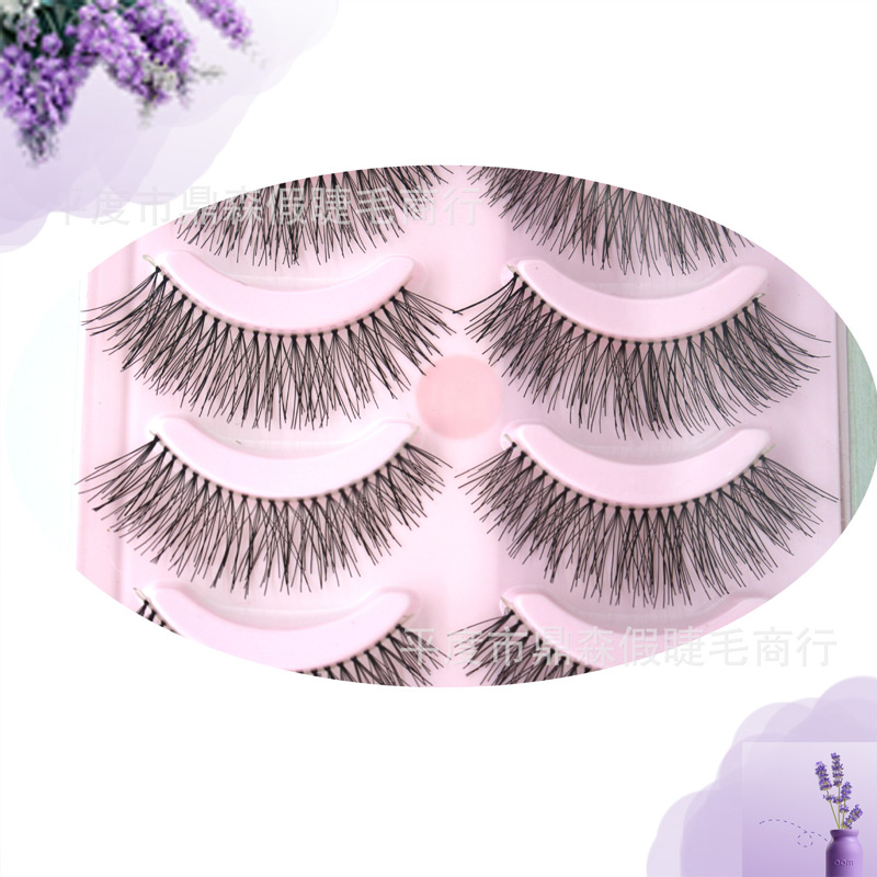 Artificial Popular 5 Pairs False Eyelashes Make Up Natural Long Valse Wimpers Strips Eyelash Fake Eye Lashes Cosmetics