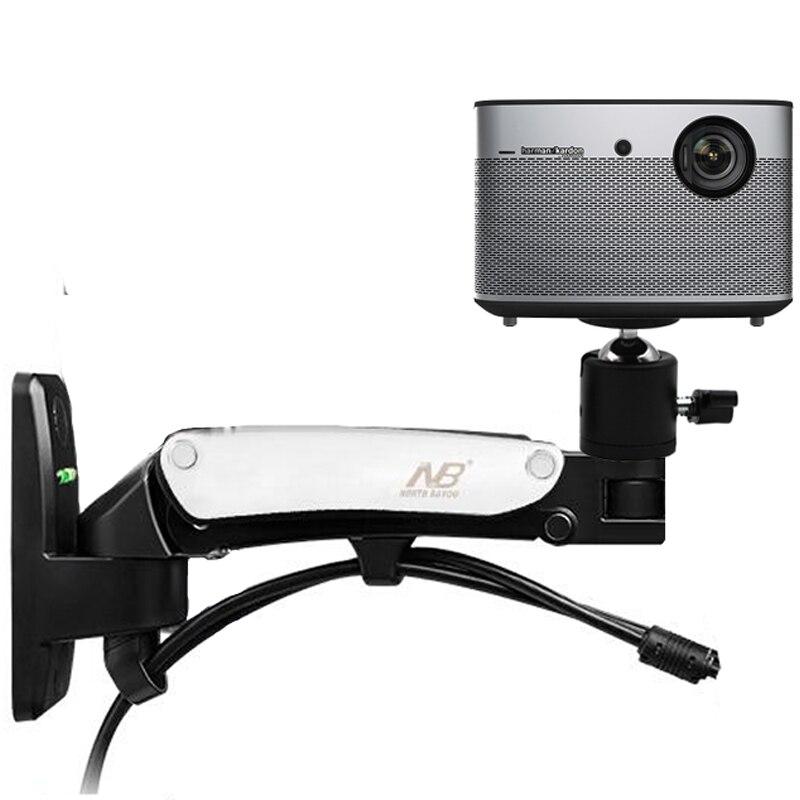 DL-F12PR, 2-7 кг, универсальная газовая пружина, газовая стойка, наклонный кронштейн для проектора, Потолочная стойка, алюминиевый сплав, поворот на 360 градусов