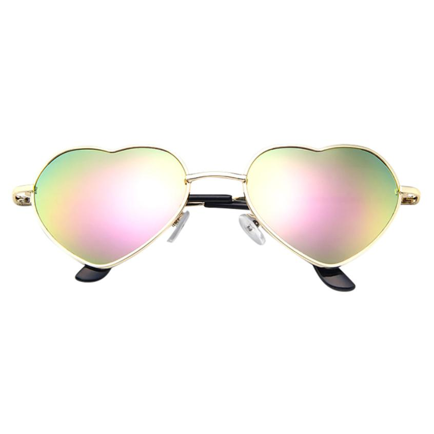 #5 Mens Womens Metal Frame Ladies Heart Shape Sunglasses Lolita Love