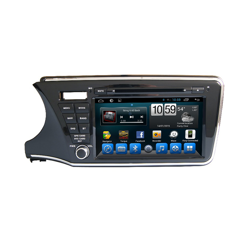 8 1024 600 Android 4 4 Car Radio GPS Navigation for Honda CITY Left Driving 2014