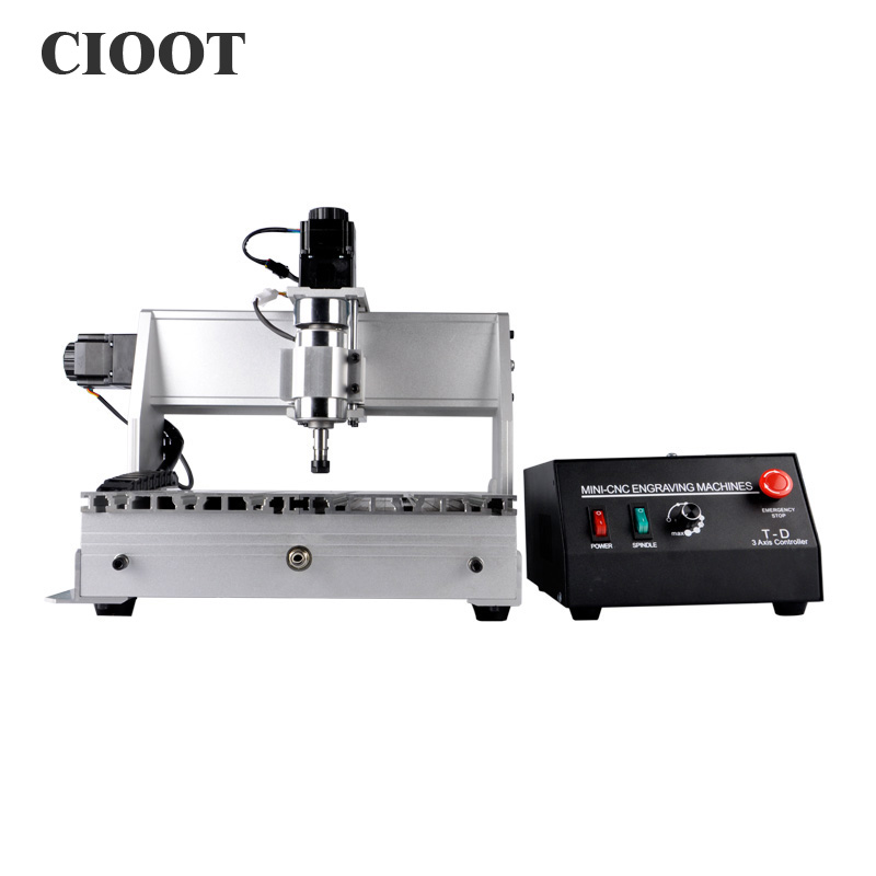 3040 Three Axis CNC Router Engraving Machine Ballscrew Mini Engraver Drilling Milling Machine With 300W Spindle Motor eur free tax cnc 6040z frame of engraving and milling machine for diy cnc router