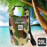 20L Waterproof Storage Bag Sack With 500D PVC For Rafting Beach Volleyball Outdoor Kayaking Canoeing Swimming