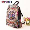 Hot 2017 Women's Cotton Fabric Clothing Backpacks Ladies All-match Women Bag Dual Shoulder Bag Small Lady Embroidery Bags H006