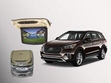 Bigbigroad для Hyundai Santafe крыше автомобиля установлен в автомобиль светодиодный цифровой Экран Поддержка HDMI USB FM ТВ игры ИК удаленного флип Подпушка DVD