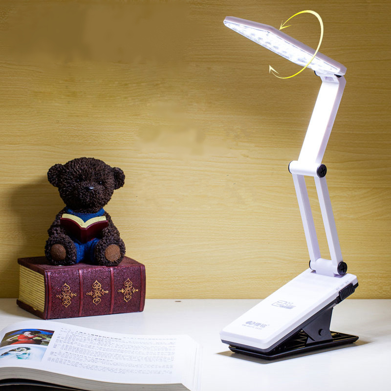 Haute qualité réglable lumière pliage LED lampe de bureau clip de bureau bureau de lecture lampe led d'urgence lumière éclairage intérieur
