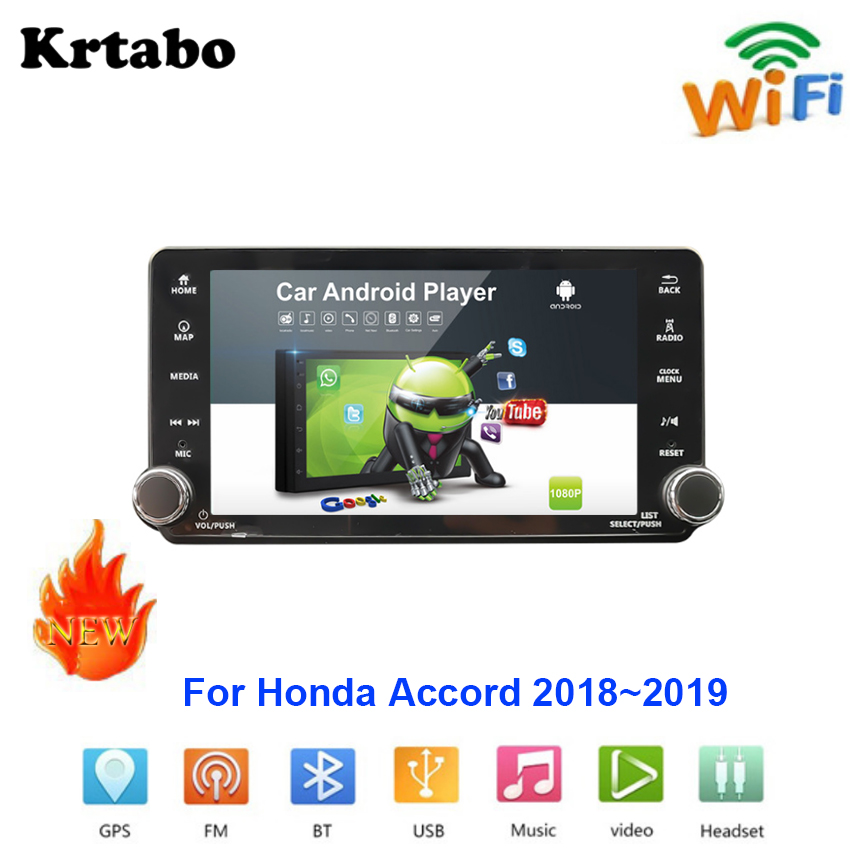Lecteur multimédia Android autoradio pour Honda Accord 2018 ~ 2019 voiture écran tactile GPS Navigation Support Carplay Bluetooth