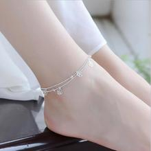 Everoyal Charm Female Silver Anklets For Women Wedding Jewelry Fashion 925 Sterling Bracelets Girl Lady Lover Gift