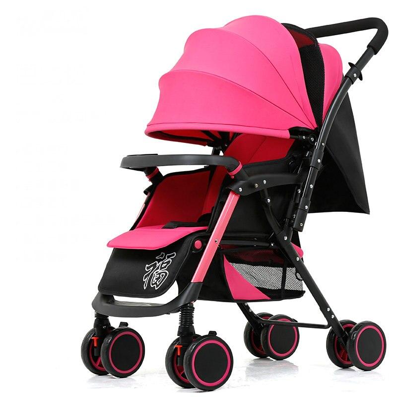 Ультралегкая портативная детская коляска, легко складывается в детскую коляску, двухсторонняя детская тележка со съемным Armest, 5,6 кг детская...
