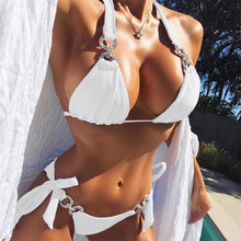 섹시한 여성 크리스탈 비키니 라인 석 수영복 여성 브라질 비키니 마이크로 비키니 수영복 비치웨어 용 작은 수영복