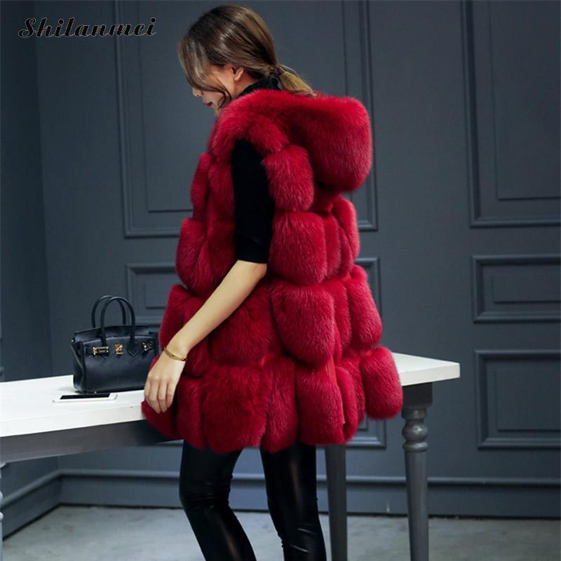 Women White Plus Size Faux Fur Vest Slim Long Faux Fur Coat Women 3xl Fur Gilet Fourrure Rabbit Fur Femme Vest Long Coat Jacket curved faux fur vest