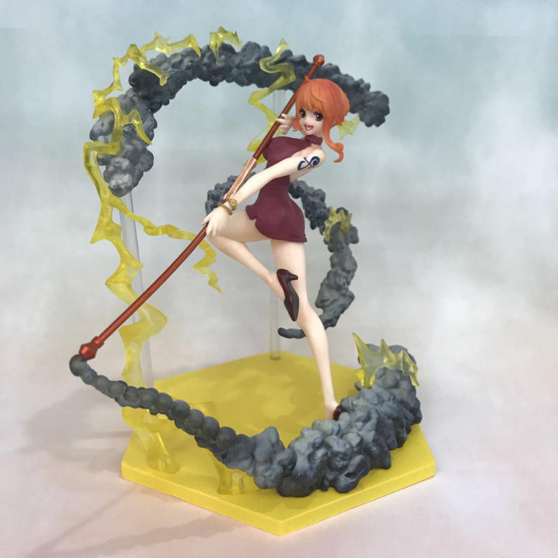 Anime One Piece Fighting Ver. Nami Action Figure 1/8 scale figure Extra Battle Fgiure Toy no retail box (Chinese Version)