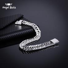 ФОТО 2018 bicycle chain wristband fashion new link chain ancient silver bracelet women heavy 9mm wide mens buddha bangles b1019-5