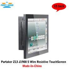 Соучастником Z13 J1900 Quad Core 5 Провода Резистивный Безвентиляторный Промышленный Компьютер С Сенсорным Экраном