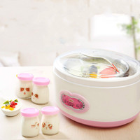 Lotor Electric Multi Yogurt Rice Wine Natto Maker Machine Stainless Steel Optional 4 Glass Cups Constant Temperature Fermented