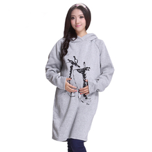 Warm winter hooded outerwear and coat for pregnant women maternity clothes