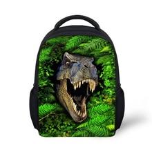Mode Kinder Schule Rucksäcke 3D Tier Dinosaurier Druck Kinder Rucksack Studenten Kühlen Tiger Kopf Bagpack Mochila Infantil