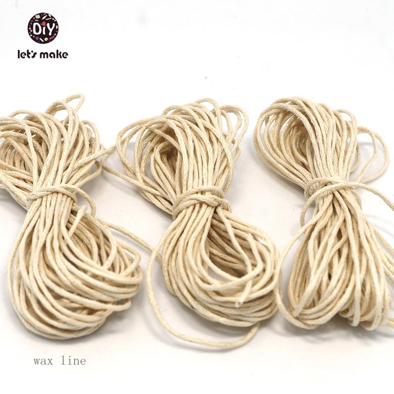 Let's Make DIY Rope 15 Strands Waxed Twisted Waxed Cotton Cord String Thread Line 1mm X 5Meters Baby Teether Diy Accessories