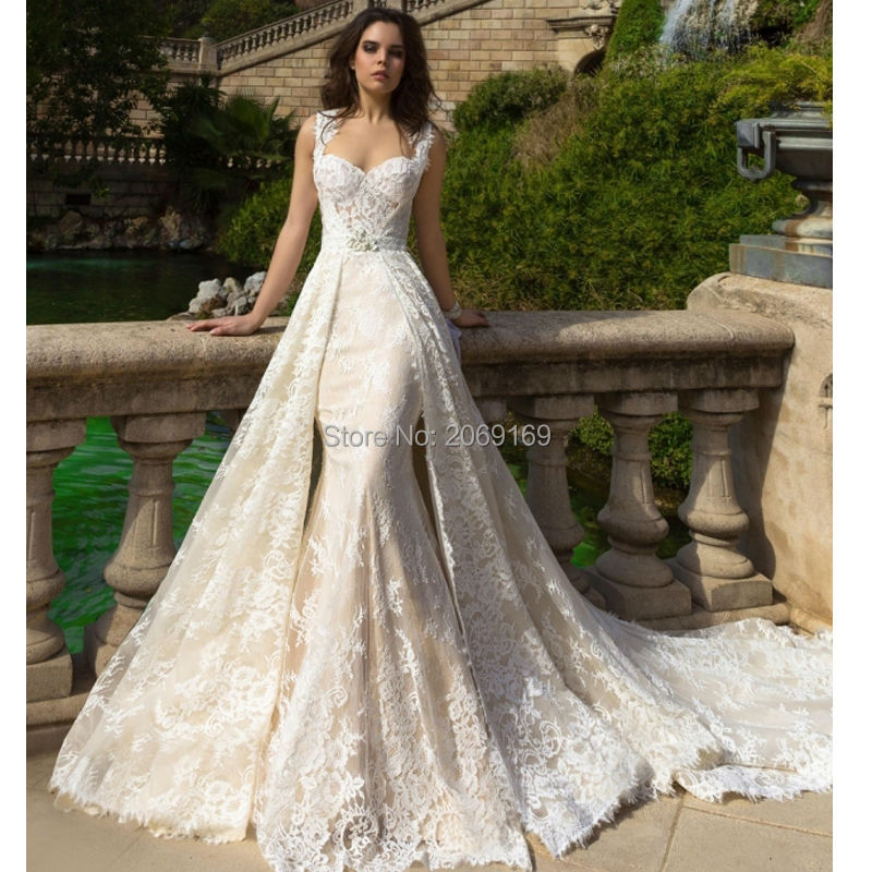 Robe de mariee 2017 new champagne mermaid wedding dresses for Plus size champagne colored wedding dresses