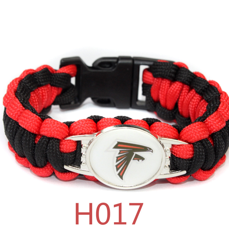 3 Style Atlanta Falcon Football Team Bracelet Sport Team Umbrella Braided Bracelet Football Fans Gift 10PCS