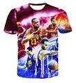 Jordan camisa de T dos homens 3d t shirt do verão de manga curta camiseta da marca hip hop 2017 dos homens Hipster Streetwear T camisa
