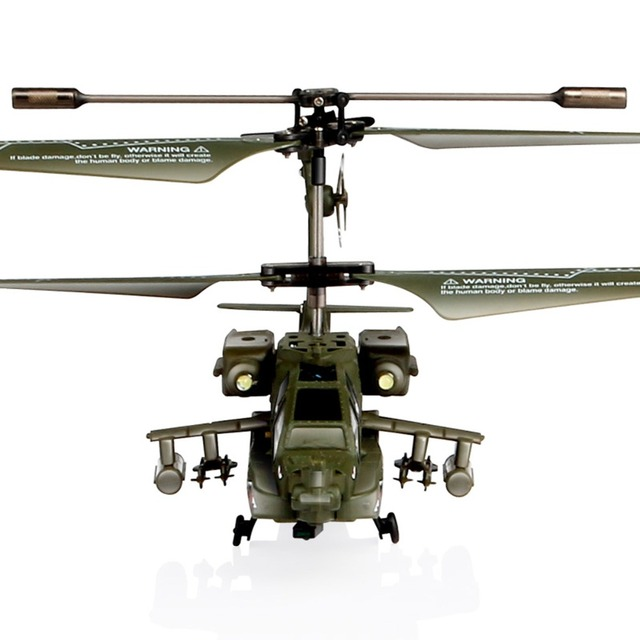 Kids Children Gift New SYMA S109G Mini 3.5CH RC Helicopter AH-64 Apache Gunships Simulation Indoor Radio Remote Control Toys