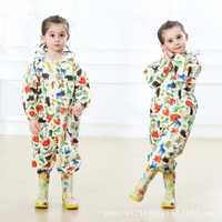 WINSTBROK niños abrigo de lluvia pantalones de lluvia mono niña niño poncho Impermeable con capucha Impermeable niños ropa de lluvia
