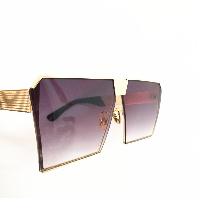 Cool 2017 New Square Hip Hop Fashion Brand Designer Sunglasses Men Women Mirror Sun glasses Lady Flat Oversized size Eyeglasses21