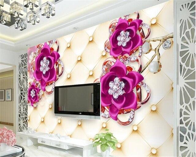beibehang Beautiful fashion high level home big green 3d wallpaper ...