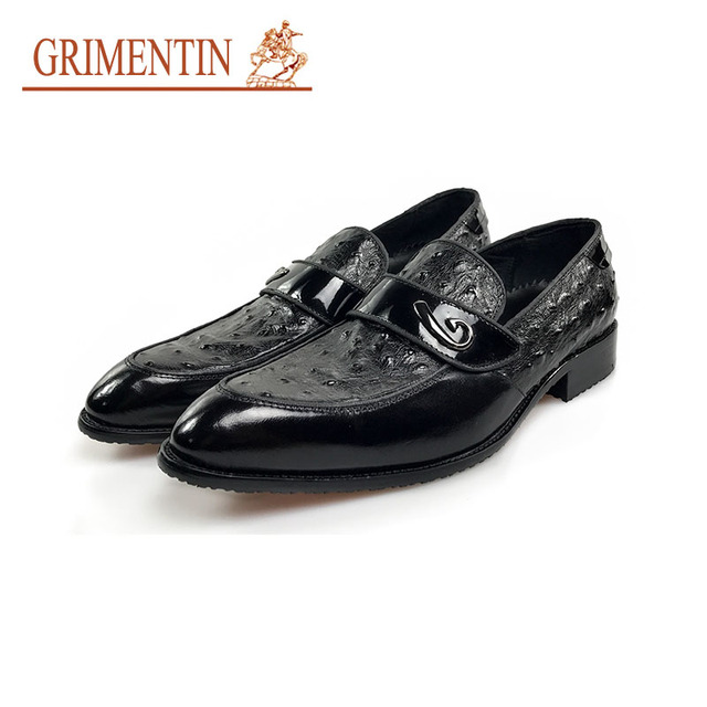 san francisco ec582 fcc64 US $116.0  GRIMENTIN casual luxury italienische schuhe männer echtes leder  slip on männliche business schuhe in GRIMENTIN casual luxury italienische  ...