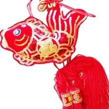 1 pçs vermelho fu carta peixe borla 73*19cm borla decorações de casamento aniversário evento festa fornecimento riqueza ano novo chinês festival