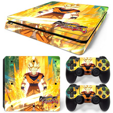 NEW Vinyl Game Dragon Ball Cover Skin Sticker For Playstation 4 Slim PS4 Slim Console Decals Of 2 slim Controllers Protect
