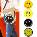 2017 New Design mini Women handbag Cute Bag Smile Face Circular Bag Fashion Women Messenger Bag Shoulder Bag Small Purse bolsas