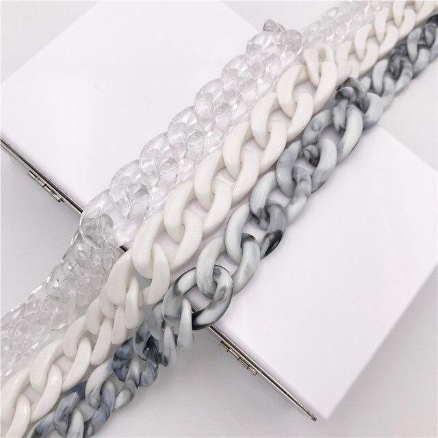 1 PC 60cm/120cm Detachable Handle Replacement Bags Strap Acrylic Shoulder Strap DIY Resin Handbag Strap Women Bag Accessories 2