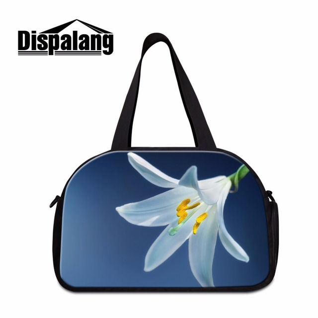 Dispalang Pretty Women S Travel Bags Flower Pattern Luggage Garment Bag Large Duffle For