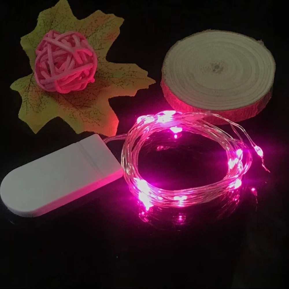 HTB1RMuJa42rK1RkSnhJq6ykdpXaK Holiday string 5M 4M 3M 2M 1M LED Creative 7 Color Button Battery Box of Copper Lamp Series Mini Small Decorative lights