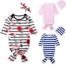 Одежда для сна для новорожденных мальчиков и девочек, спальный мешок, одежда для сна