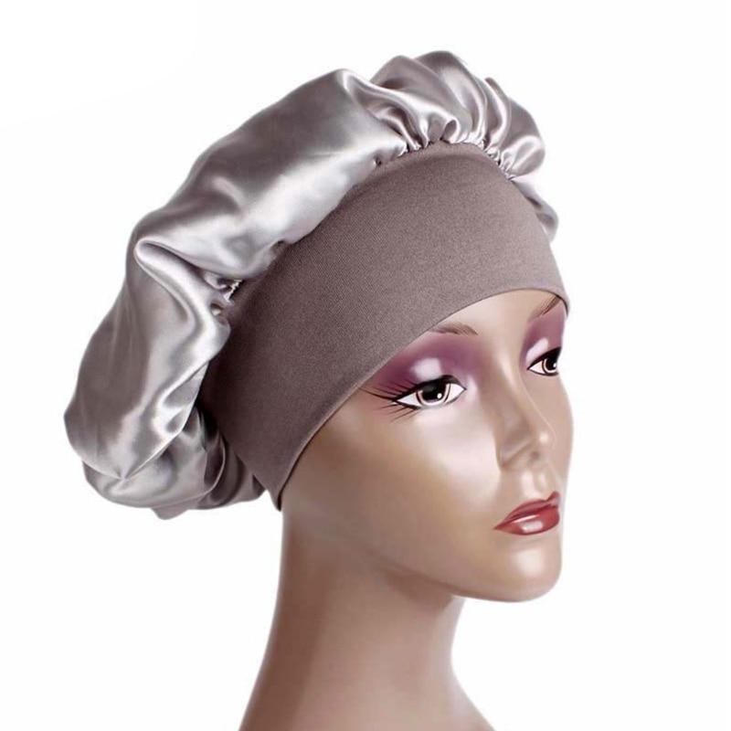 Women Satin Sleep Cap Full Coverage Soft Night Sleep Hat Cap Chemotherapy Cap